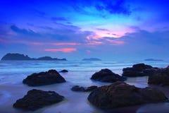 Beach. Beautiful beach sunset in thailand Royalty Free Stock Photo