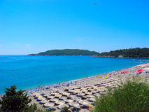 The beach in Becici, Montenegro. Stock Photo