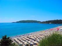 The beach in Becici, Montenegro. Stock Photo