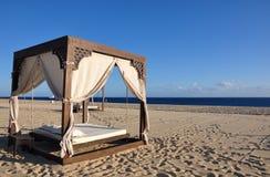 Beach Bed. Bed on the beach in Cabo San Lucas, Baja California, Mexico Stock Photos