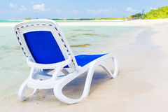 Beach bed in the beach of Coco Key in Cuba Stock Photo