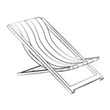 Beach bed Stock Photography