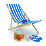 Beach bed blue Stock Photo