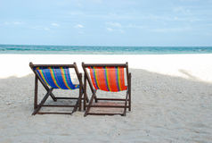 Beach bed Stock Image