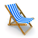 Beach bed blue Stock Image