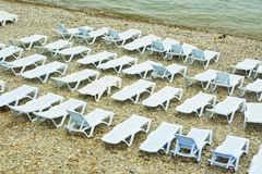 Beach-beds Royalty Free Stock Photography