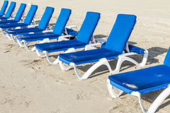 Beach beds at the beach in Miami Royalty Free Stock Photography