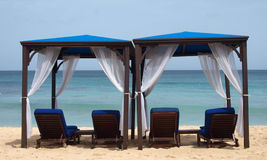 Beach Beds Royalty Free Stock Photography