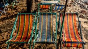 Beach beds. Beach beds at HuaHin Thailand Stock Photo