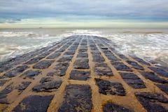Beach in Belgium Royalty Free Stock Photography
