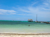 Beach in belize. Scenic image of belize central america Stock Photography
