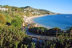 Beach below Montage Resort, Laguna B.each CA. Royalty Free Stock Images
