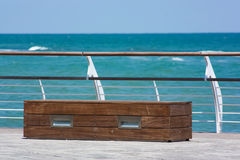 Beach bench Royalty Free Stock Photo