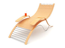 Beach bench on a white background. 3d illustration Stock Photography