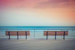 Beach Benches Stock Photos