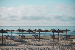 Beach in Benicassim, Castellon, Spain Royalty Free Stock Photo