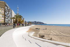 Beach Benidorm Stock Photography