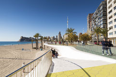 Beach Benidorm Stock Photo