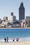 Beach Benidorm Stock Image