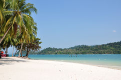 Beach on Beras Basah Island. In Langkawi, Malaysia Royalty Free Stock Photos