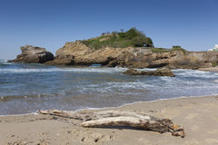 Beach of Biarritz. Aquitaine, France Stock Images