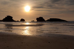 Beach of Biarritz Stock Photos