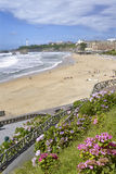 Beach of Biarritz in France Royalty Free Stock Photo