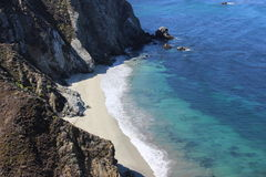 Beach in big sur stock photography