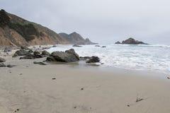 Beach in Big Sur Stock Image