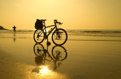 Beach Bike Pause Royalty Free Stock Image