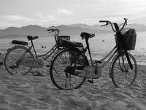 Beach Bikes. Bikes on a beach in Vietnam Royalty Free Stock Photo