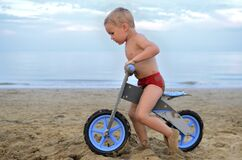 Beach Biking Royalty Free Stock Image