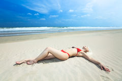 Beach bikini Royalty Free Stock Photos