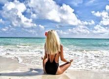Beach, Bikini, Blonde Stock Photography