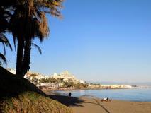 Beach of Bil-Bil-Benalmadena-Malaga-Andalusia Stock Images