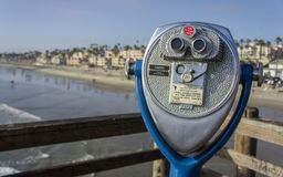 Beach Binoculars - Oceanside, CA Stock Photo
