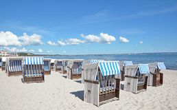 Beach of Binz,Ruegen island,Baltic Sea,Germany Stock Photos