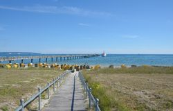 Beach of Binz,Ruegen island,Baltic Sea,Germany Stock Photos