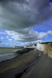 Beach at Birling Gap. The beach at Birling Gap Eastdean England Stock Image
