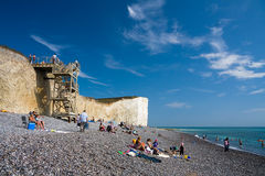 Beach at Birling Gap. Stock Photography