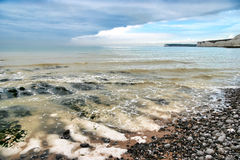 The beach at the Birling Gap Stock Photo