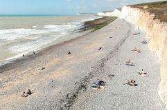 Beach at Birling Gap, Seven Sisters, nr Eastbourne Stock Images