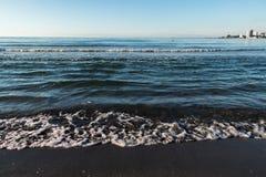 A beach in Black sea stock image