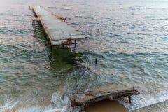 Beach on the Black Sea Royalty Free Stock Photography