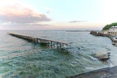 Beach on the Black Sea Royalty Free Stock Photo