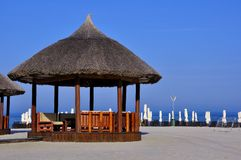 Beach on the Black Sea Coast in Romania Royalty Free Stock Photography