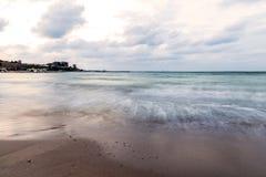 Beach on the Black Sea coast Royalty Free Stock Images
