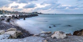 Beach on the Black Sea coast Royalty Free Stock Photography