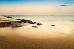 Beach on the Black Sea coast Stock Images