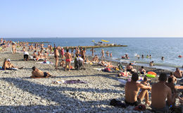Beach on the Black Sea Stock Image